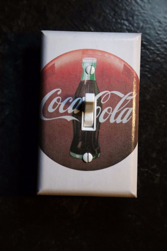 Coca Cola Coke Theme Light Switch Cover man cave soda room decor pop ...