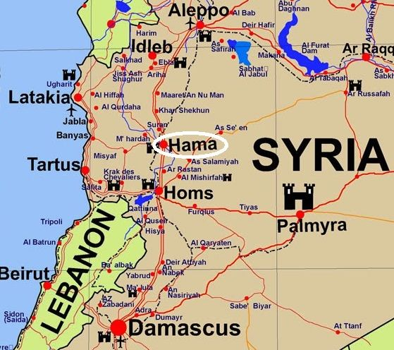 Image result for hama syria map | Syrian Maps | Map, Syria, Hama