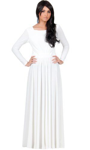 Collection White Maxi Dresses With Sleeves Pictures - Reikian