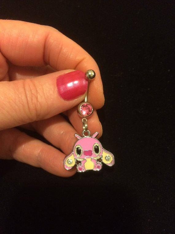 Adorable Angel Stitch S Girlfriend Lilo And Stitch Belly Ring Sold