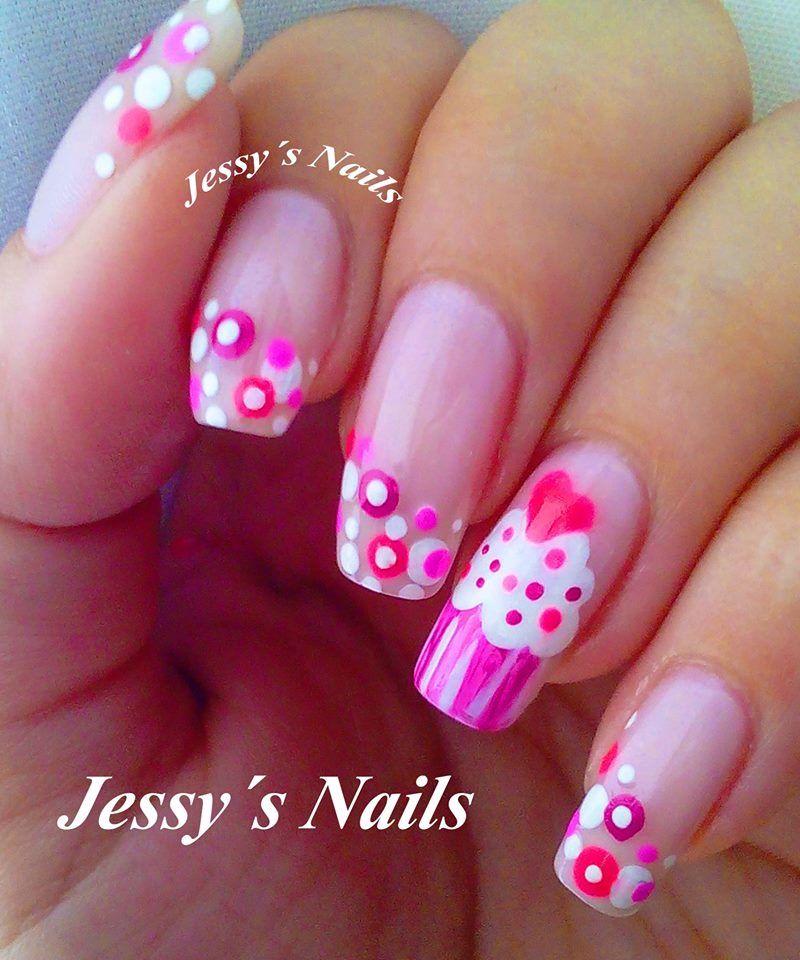 uñas decoradas #uñas #fucsia #nailart #pink #uñas bonitas | PINK ...