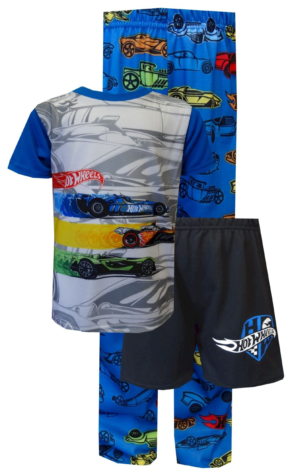 Hot Wheels Boys Race Car Short Sleeve Basic T-Shirt Black