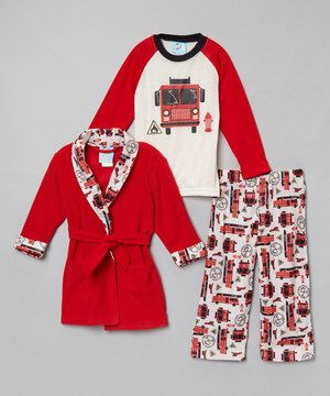 c747e22e5 Love this Red Rescue Squad Pajama Set - Infant   Toddler by ...