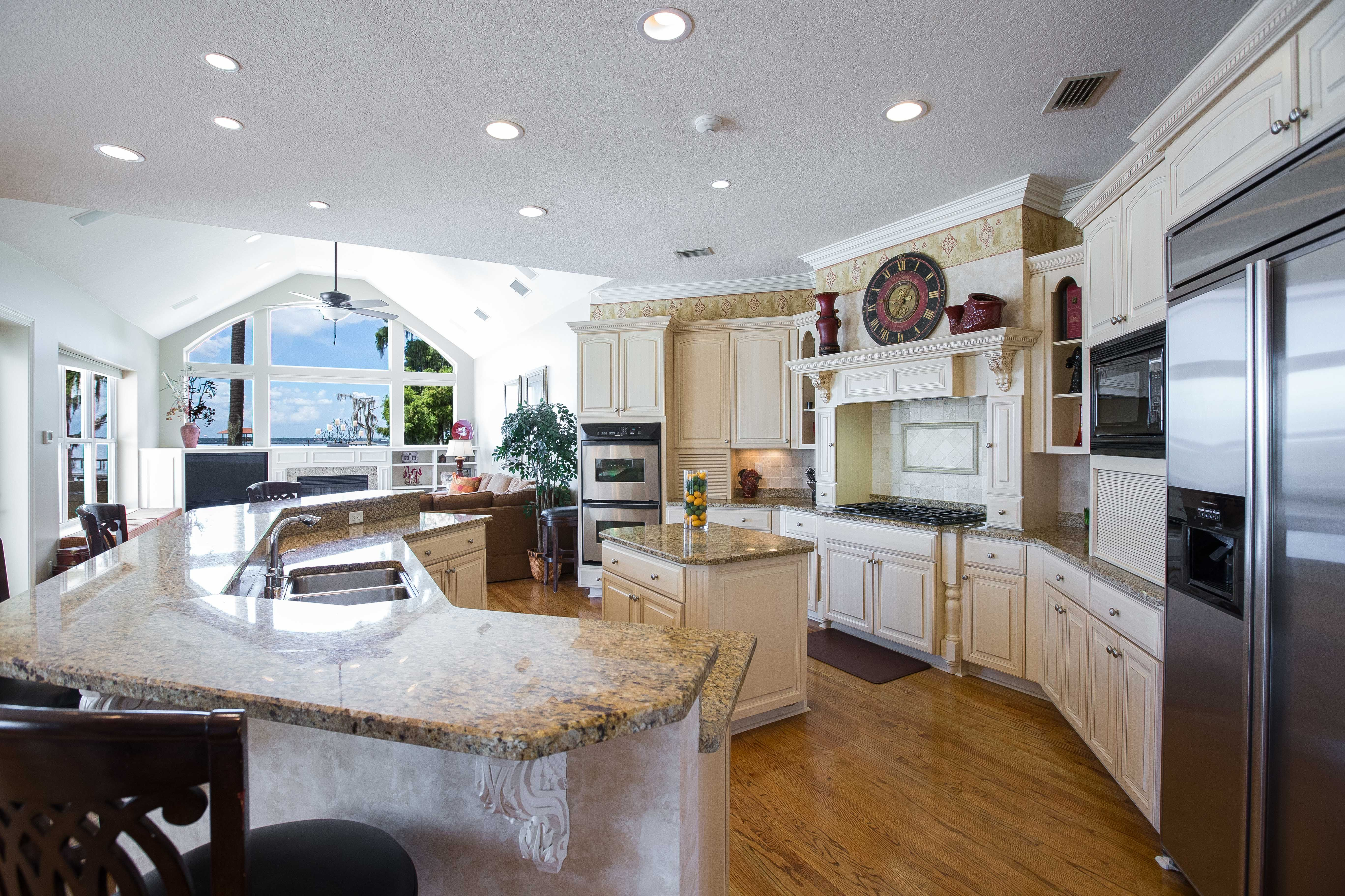 Beautiful Kitchen with incredible views of the St. Johns.  10750 Waverley Bluff Way, Jacksonville, FL 32223