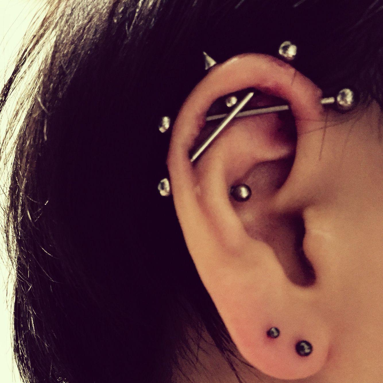 My Pierces Dibble Industrial Piercings I Like My Ears 3 Ear