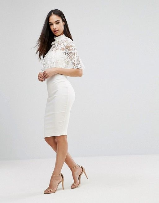 2 in 1 Lace Pencil Dress - Yellow/ white Vesper Cheap Best Prices Clearance Prices Exclusive Sale Online Cost For Sale Cheap Sale Newest QL3sActrud