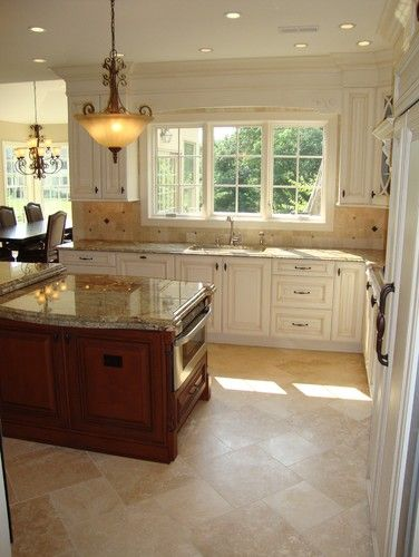 Travertine Floor Design Pictures Remodel Decor And Ideas  Page Entrancing Kitchen Floor Options Decorating Inspiration