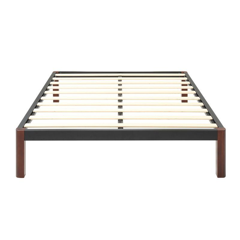 Caoimhe Wood Slat And Metal Platform Bed Frame Metal Platform