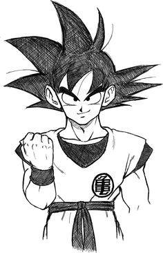 Goku Easy Sketch Goku Easy Sketch Dragon Ball Artwork Anime Dragon Ball Super Dragon Ball Tattoo
