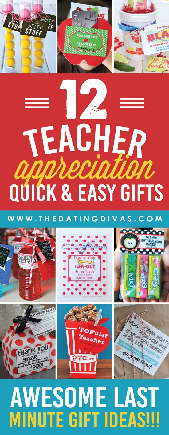 Quick and Easy Teacher Appreciation Gifts And Ideas ...