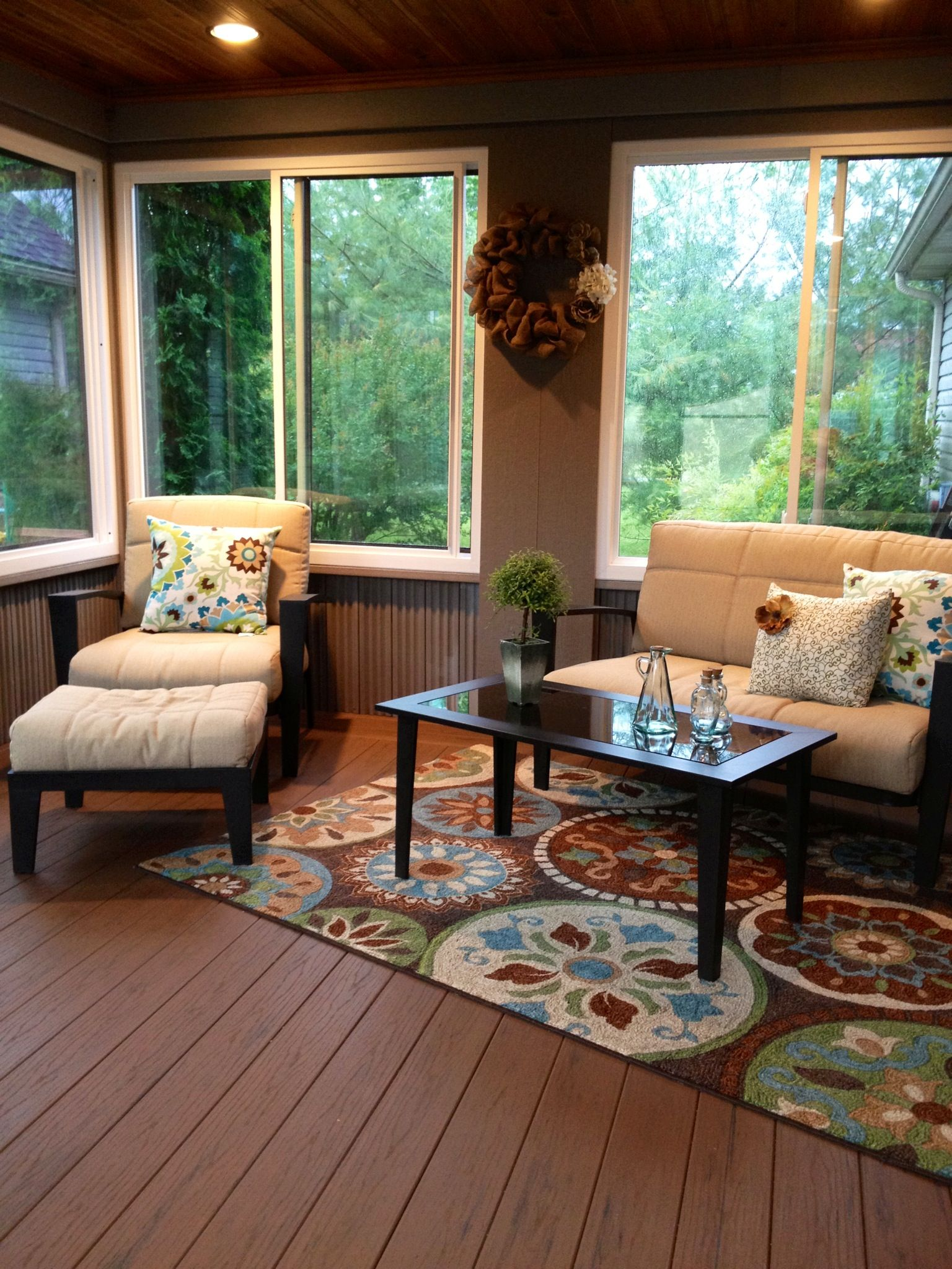Composite Decking For Enclosed Back Porch Outdoors In