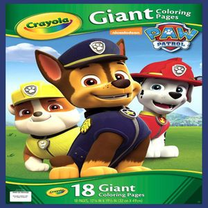 Crayola R Giant Coloring Pages Paw Patrol Cameron S Christmas