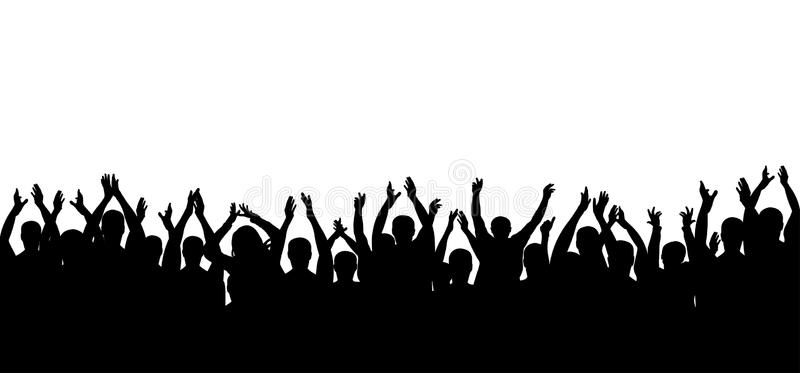 Applause Crowd People Silhouette Cheerful Crowd Cheering Hands Up Ad People Crowd A Crowd Drawing Silhouette People Wedding Photography Album Design