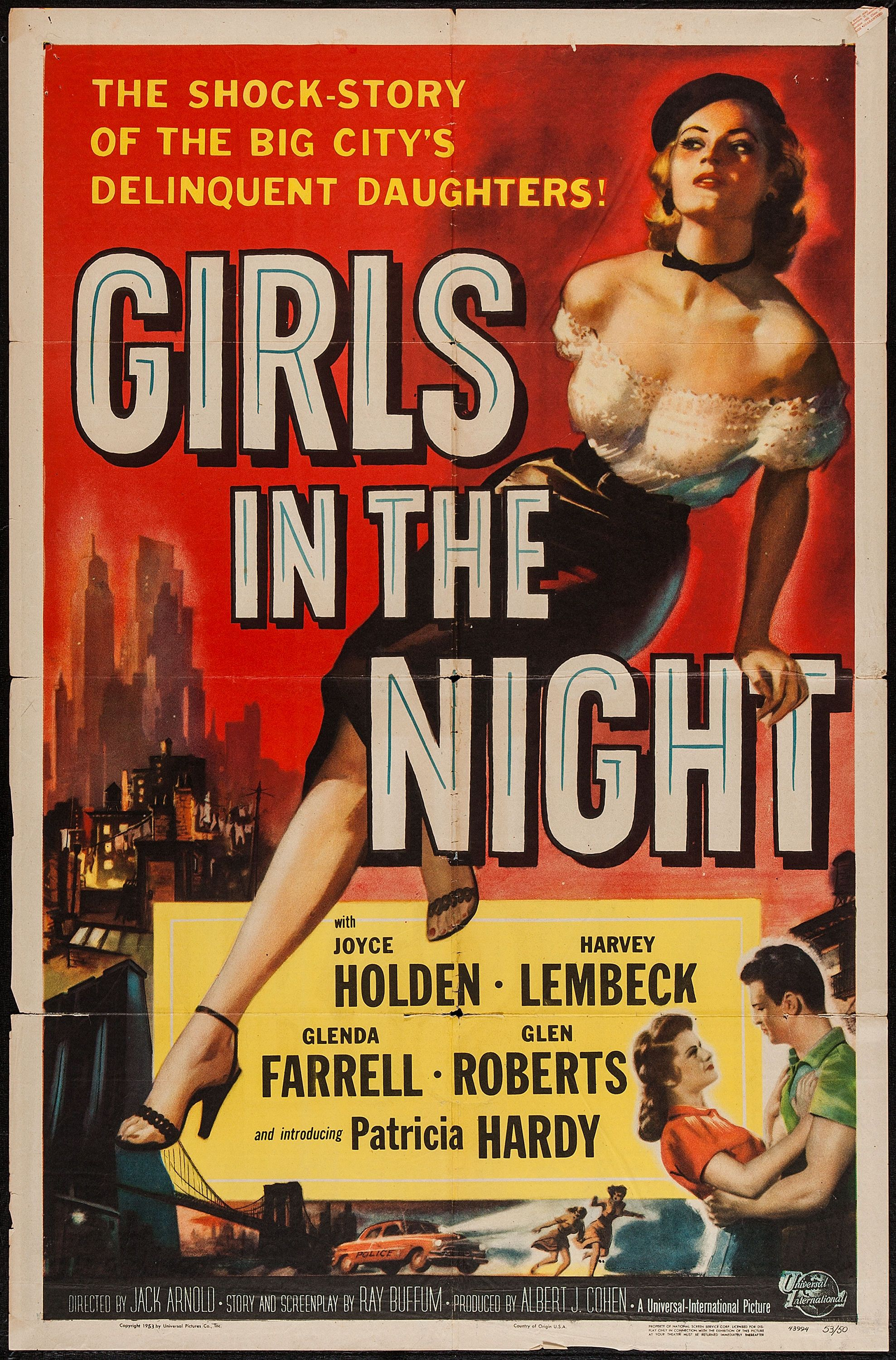 Girls In The Night Old Film Poster 1953 Classic Movie Posters