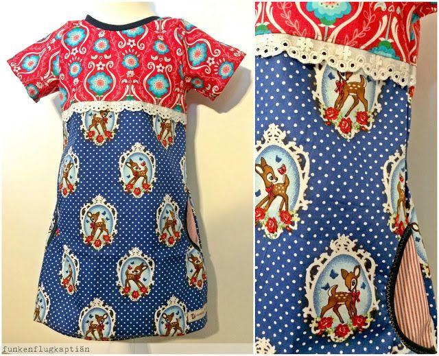 Kleid Aus Baumwolle Mit Kurzen Armeln Und Spitze Als Teilung Nahen Kleider Kinderkleidung Kleid Mit Armel