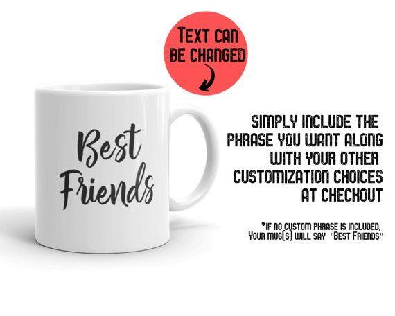 Custom Best Friends Coffee Mug, Best Friends Cup Personalized Gifts Moving Away Mug, Bestie Birthday #custommugs