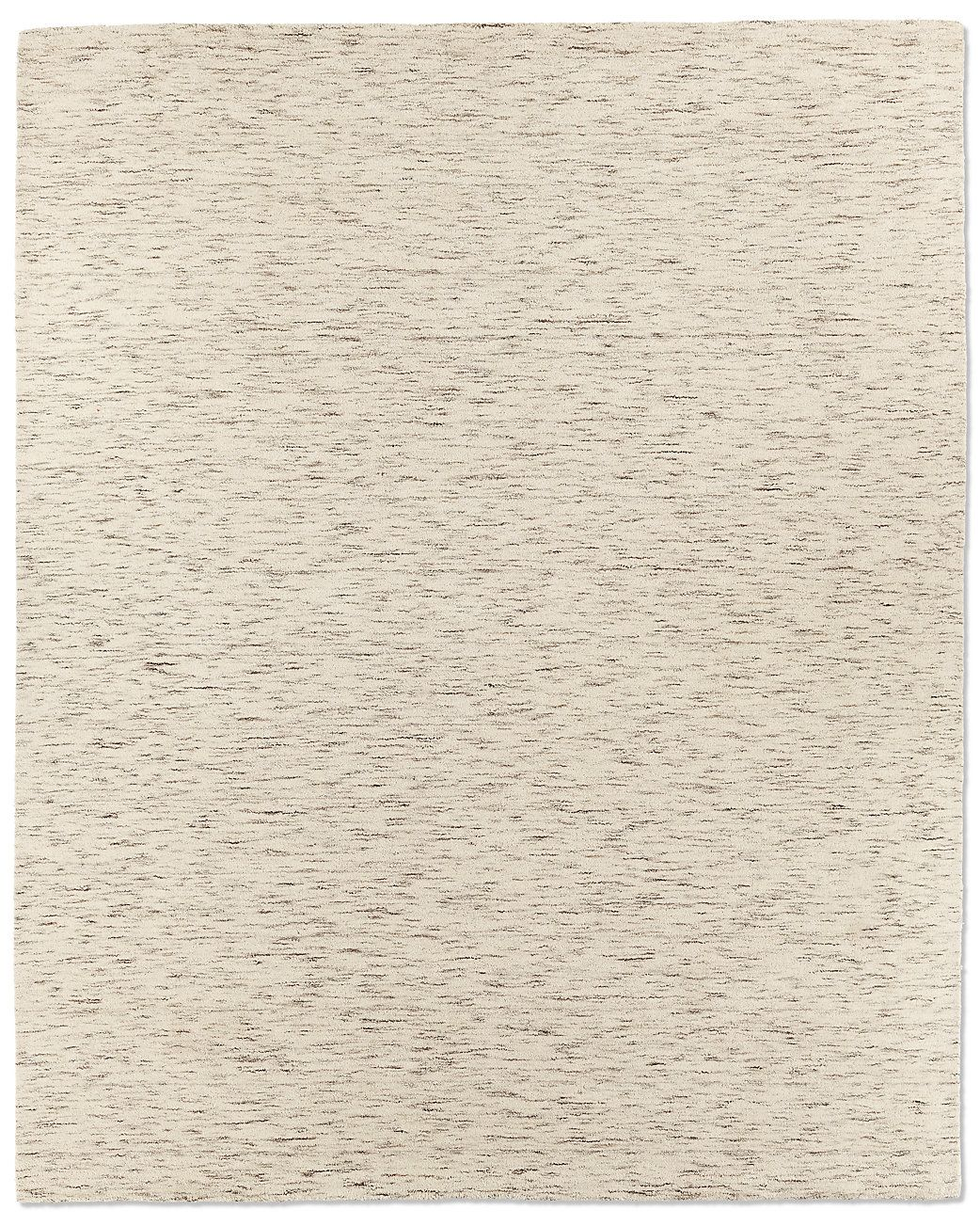 Striated Plush Wool Rug Cream