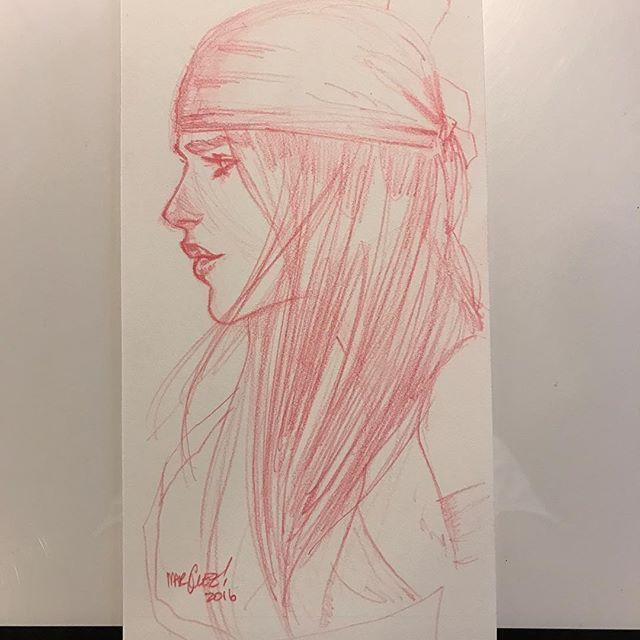 Elektra by David Marquez #elektra #warmup #sketch #marvel #daredevil #comics #comicart #art #pencils