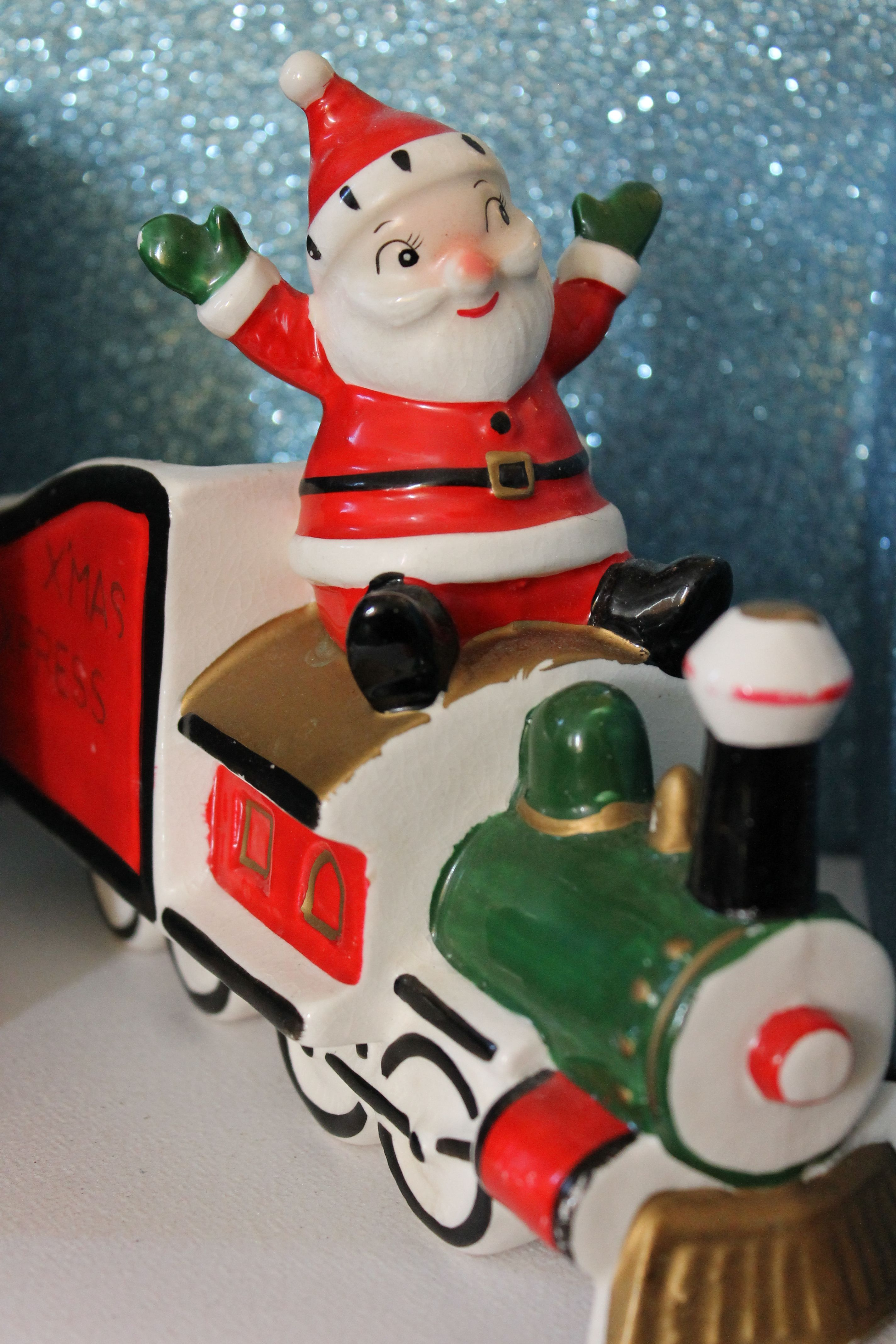 Holt Howard Santa Express Train Planter Mid Century