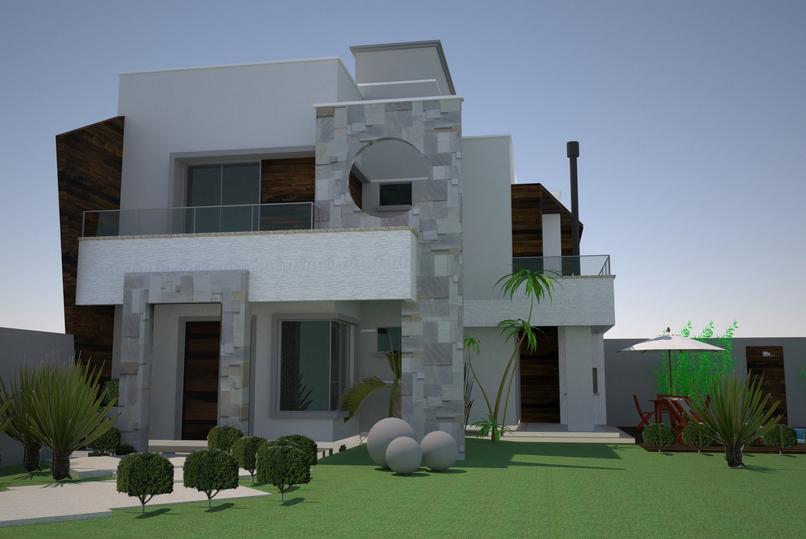 30 fachadas de casas modernas e cinza a cor do momento for Cores modernas para fachadas de casas 2013