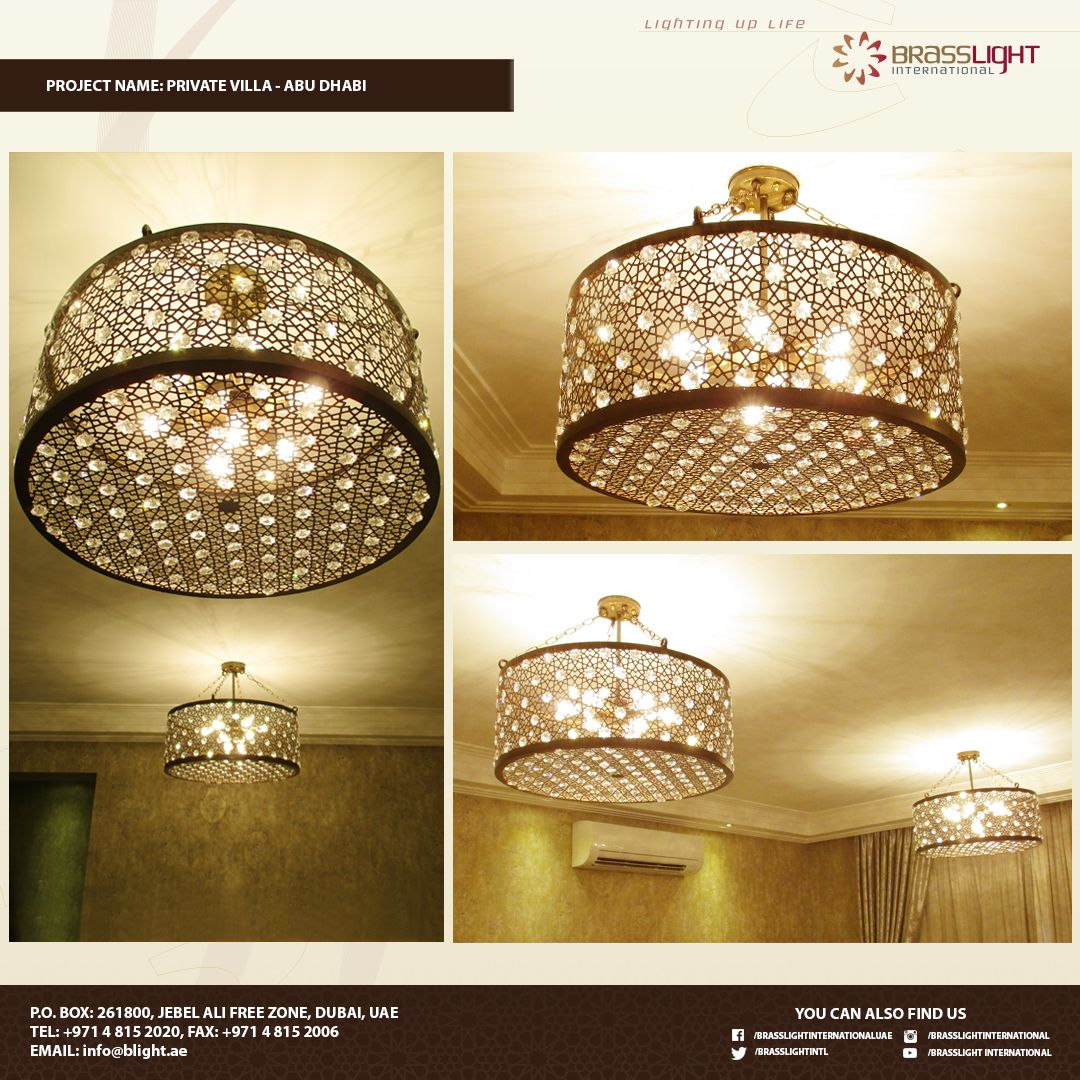 Light Fixtures Dubai: This Modern Brass Chandelier Is Perfect For Your Living