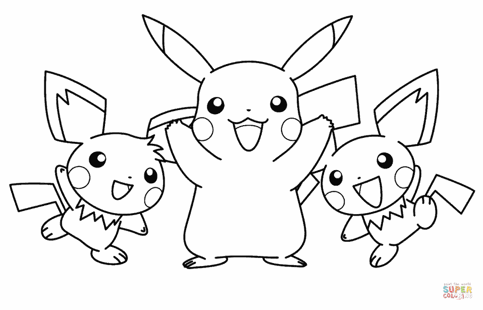 Pikachu And His Friends Coloring Page Free Printable Coloring Pages Pikachu Coloring Page Pokemon Coloring Pages Pokemon Coloring