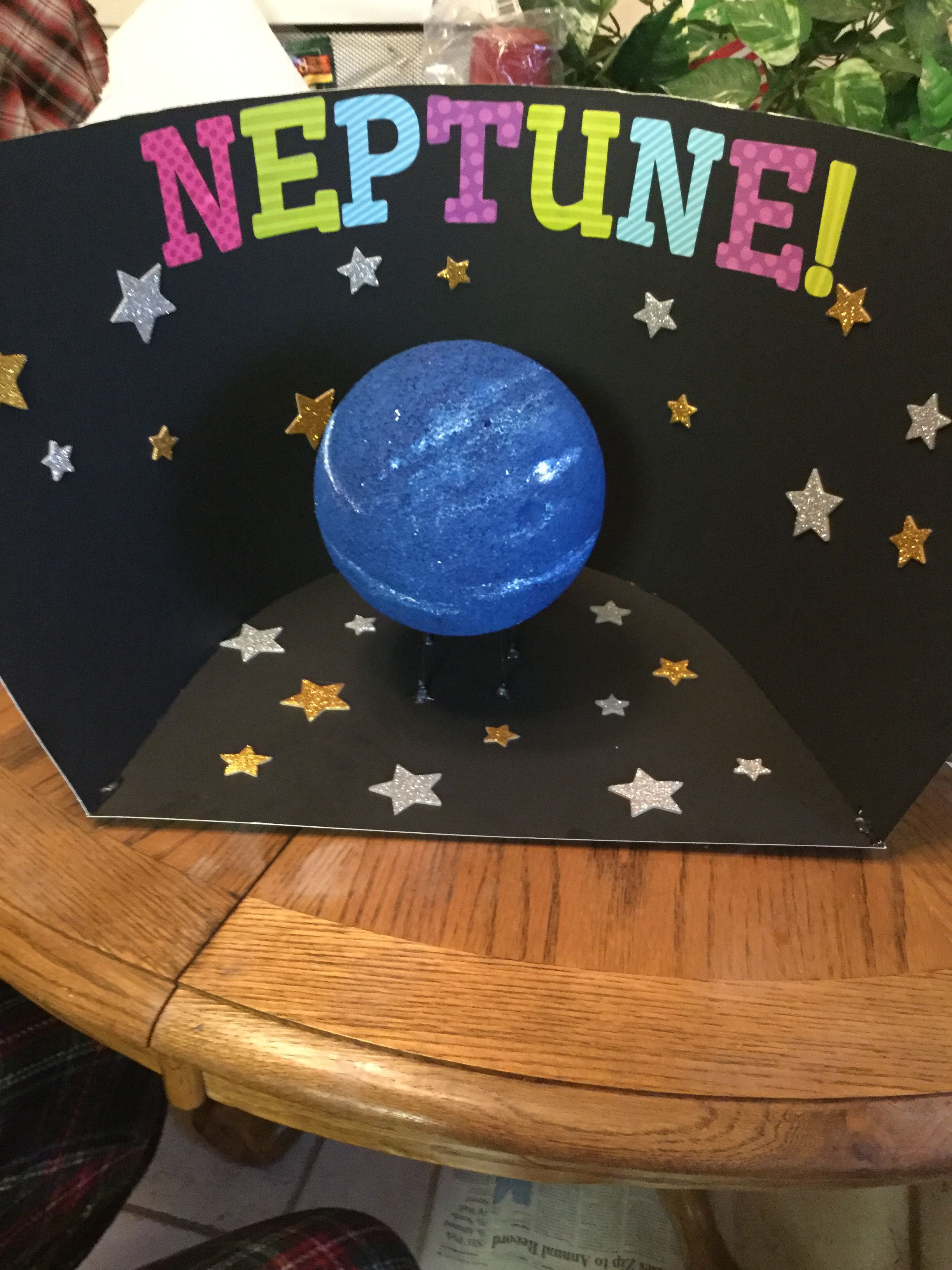 The finished product of my Neptune science project ...