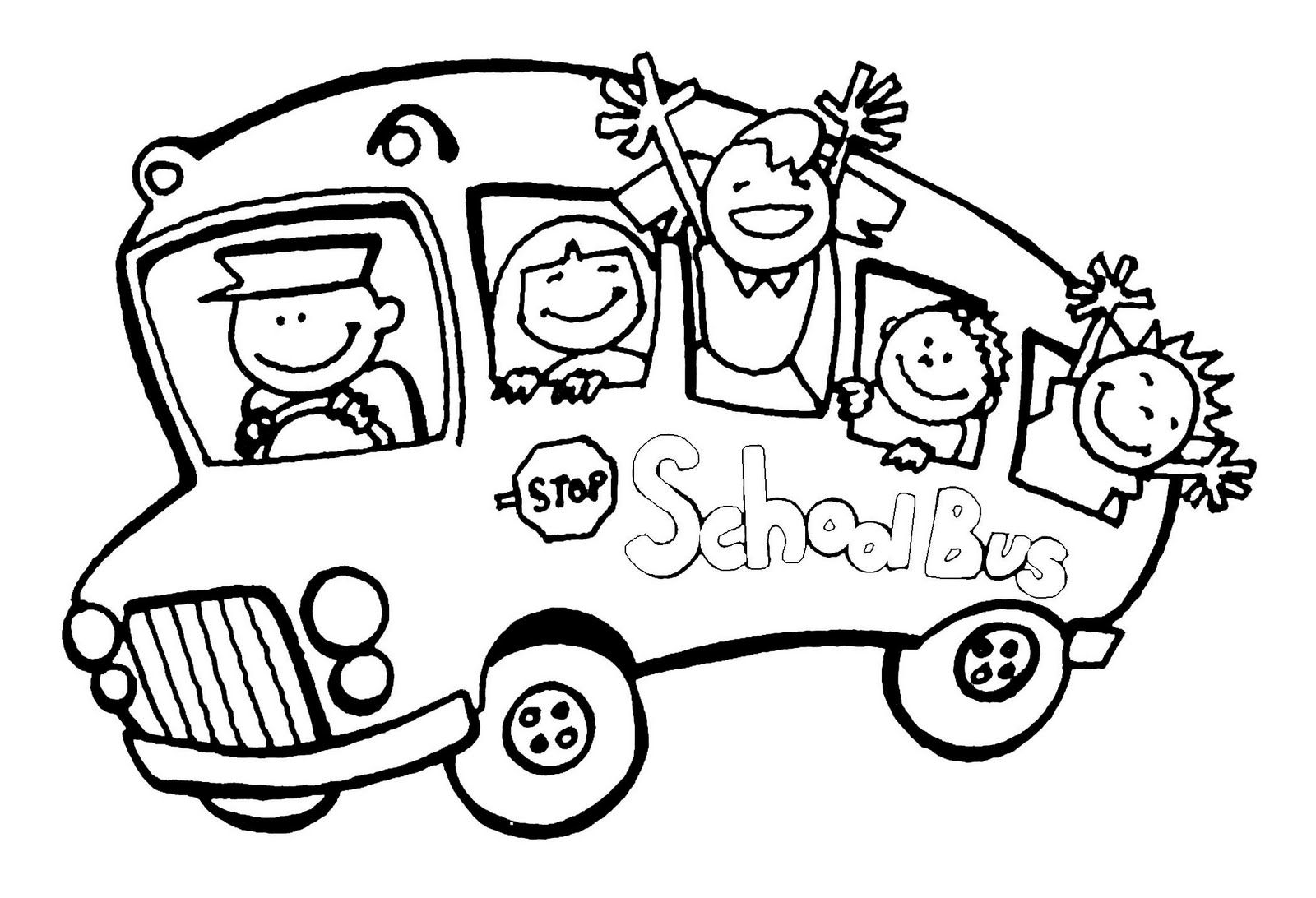 Printable Coloring Pages School Bus Imbullyfree Org Preschool