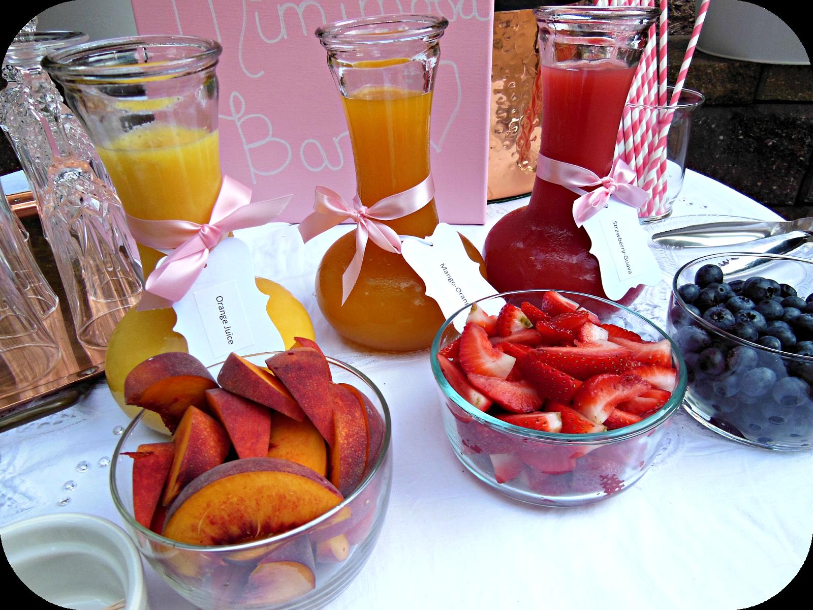 DIY Mimosa Bar {Bridal Shower}