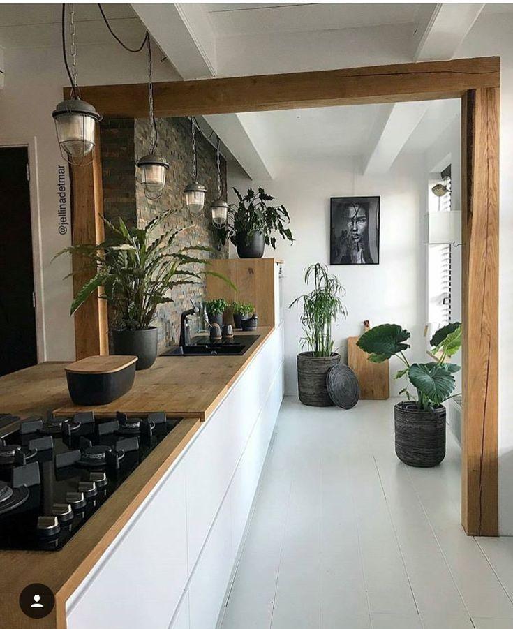 Garder la poutre au niveau de la cuisine - #au #cuisine #de ...
