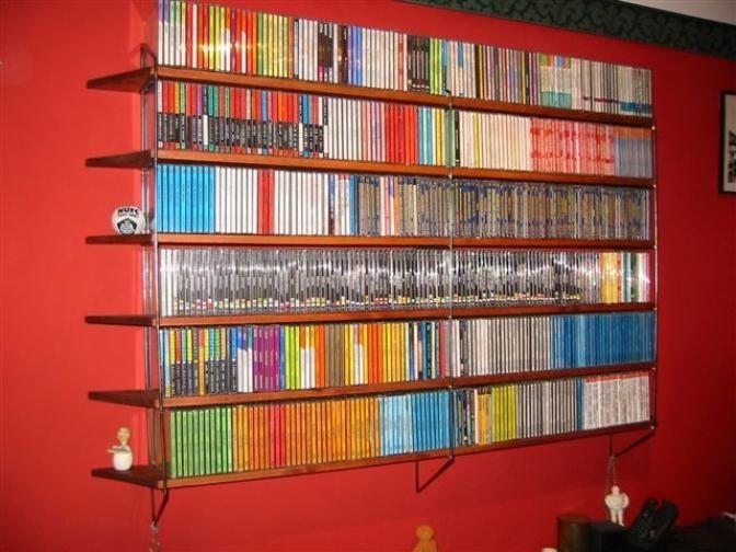 dvd shelves | dvd shelving | home storage ideas | home ideas