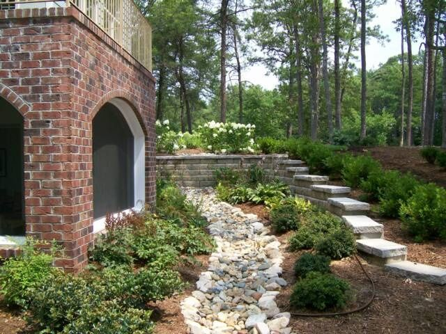 Good For Poor Drainage Areas Gardens Pinterest Landscaping With Rocks Backyard Landscaping Dry Creek Bed