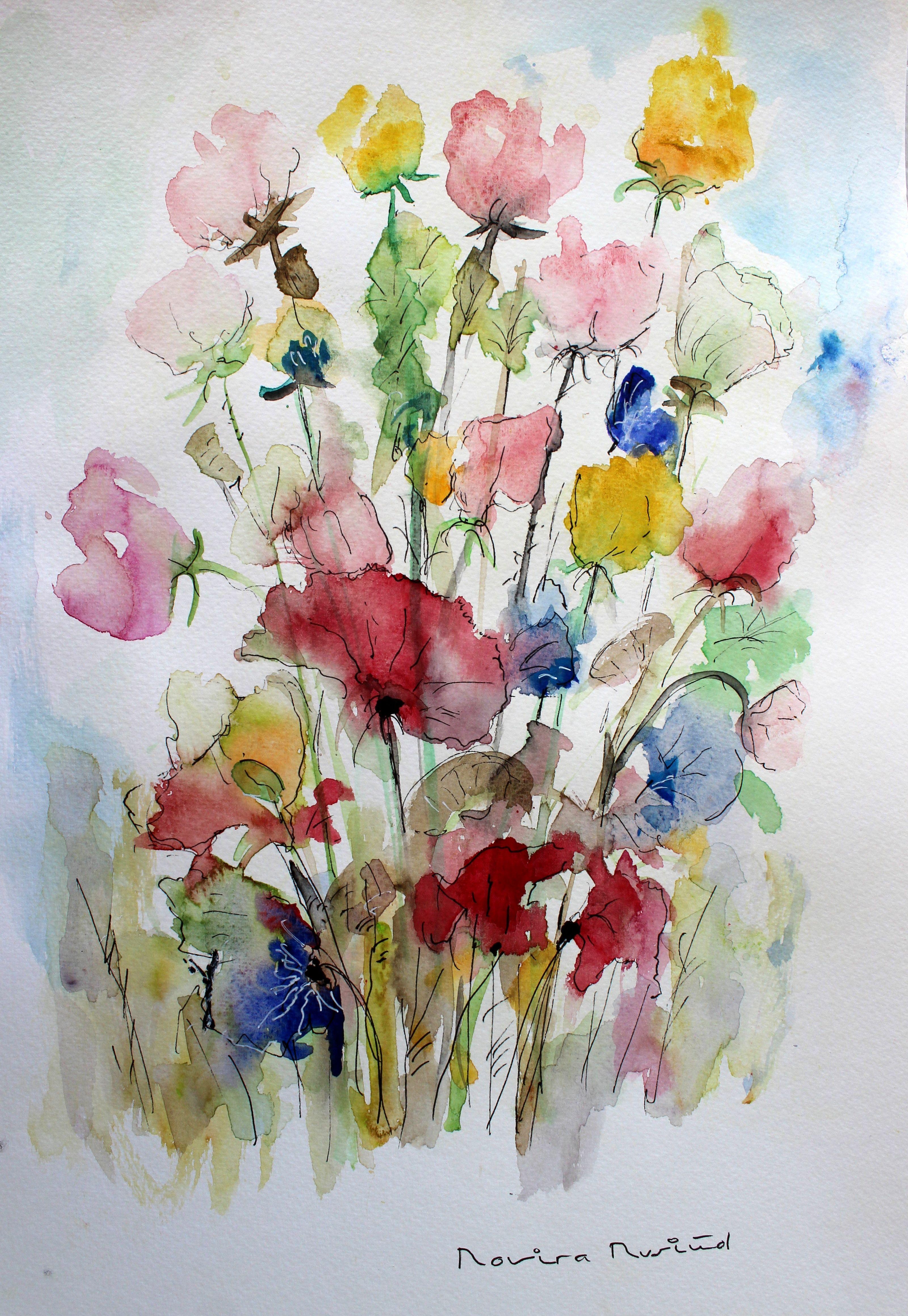 Watercolor Flowers Watercolor Flowers Watercolor Art Diy
