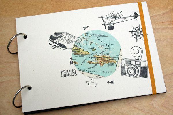 Fotoalben fotoalbum travel ein designerst ck von smallcaps bei dawanda papierarbeiten - Fotoalbum selber machen ...