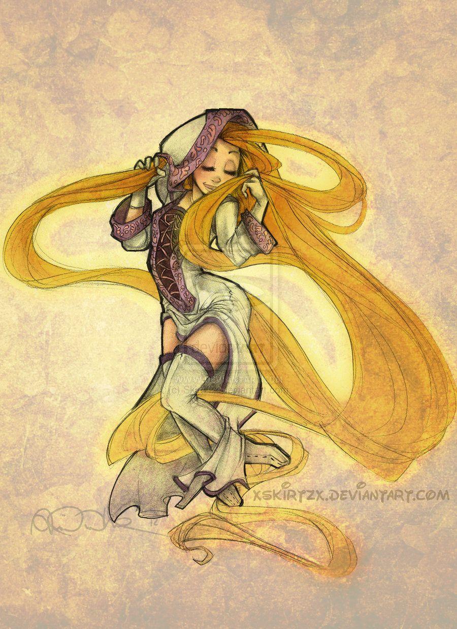White Mage Rapunzel by Skirtzzz.deviantart.com