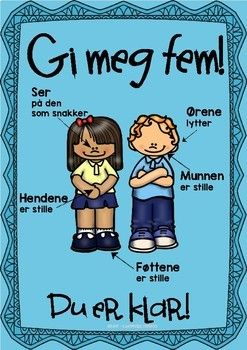 Gi Meg Fem Plakat Skole Ideer Laeringsaktiviteter Klassevaerelse