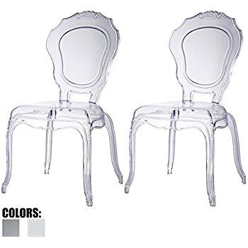 2xhome Belle Style Ghost Chair Ghost Armchair