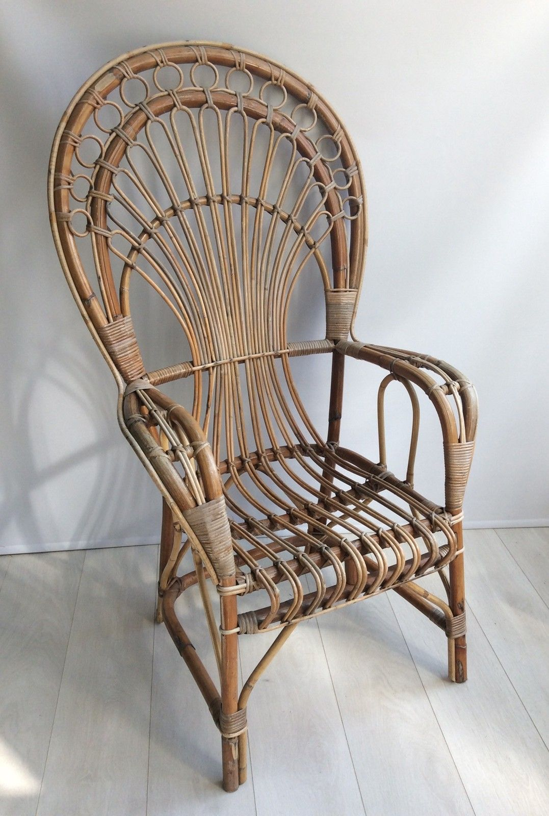 Iconic Rattan Peacock Chair 1970s The Vintage Trader