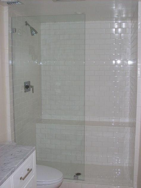 Remodeling bathroom design with glass tile shower  bench for  renovation also