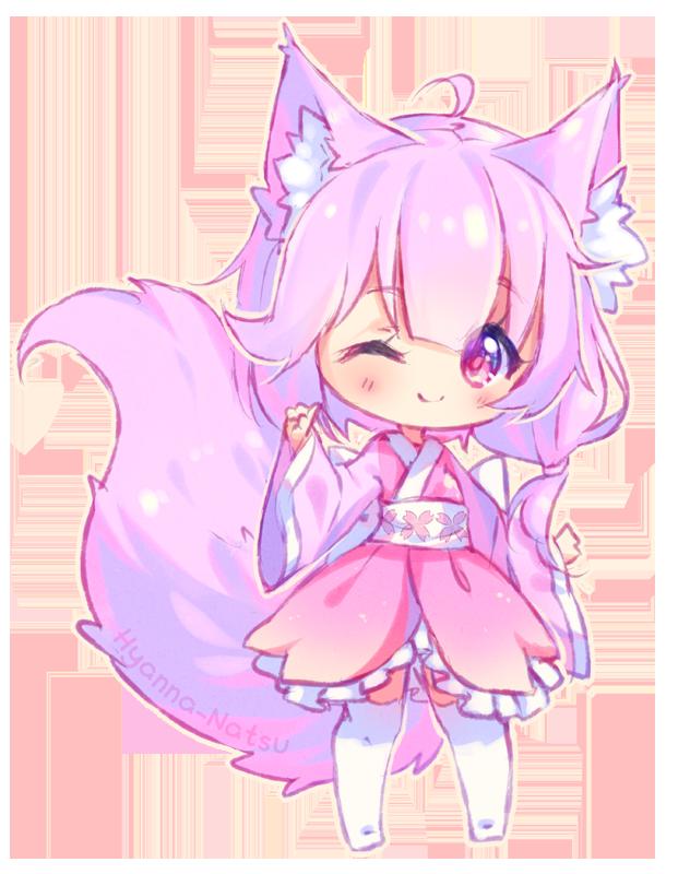 Image Result For Hyanna Natsu Chibi Chiye Cute Anime Chibi Chibi Girl Drawings Anime Wolf Girl