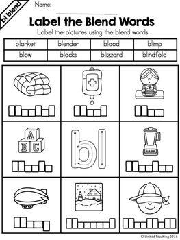 Pin On Kindergarten Free blending worksheets for first grade