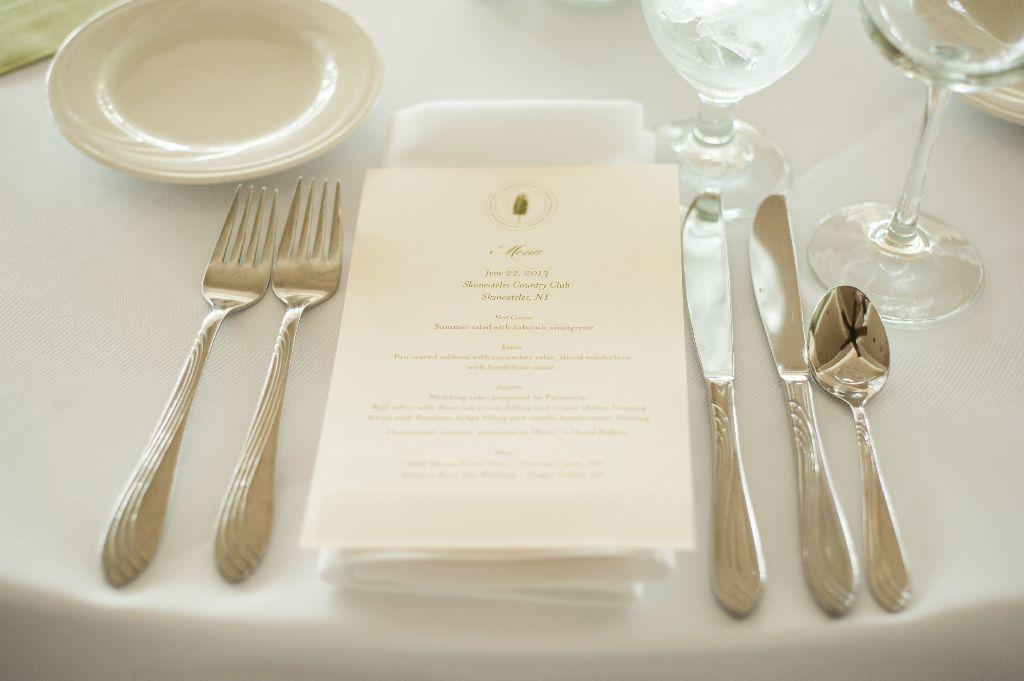 Simple & elegant menus created by Minted