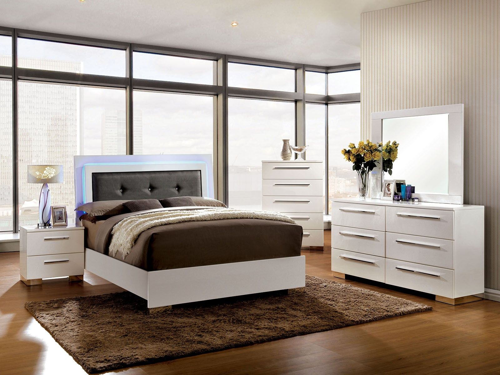 brown bedroom sets also white storage with mirror