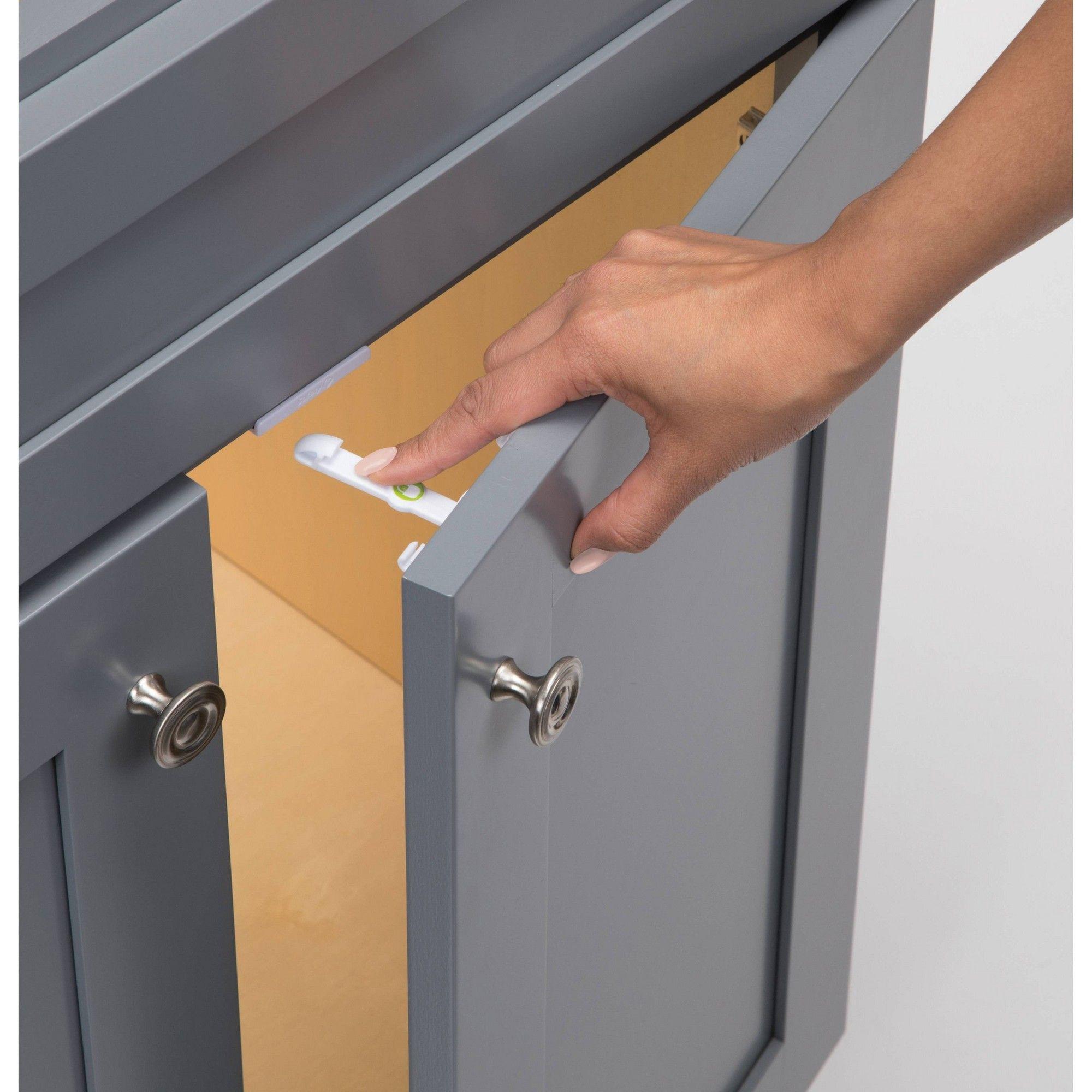 Safety 1st Adhesive Latch 8pk, White latch