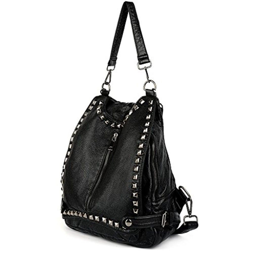 Uto Femme Sac A Dos Porte Epaule Rivets Carres Vogue Unique