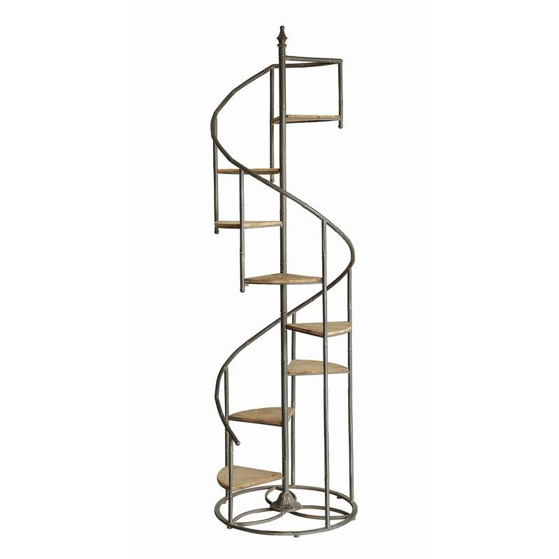 Best Crestview Darby Spiral Staircase Metal And Wood Display 400 x 300