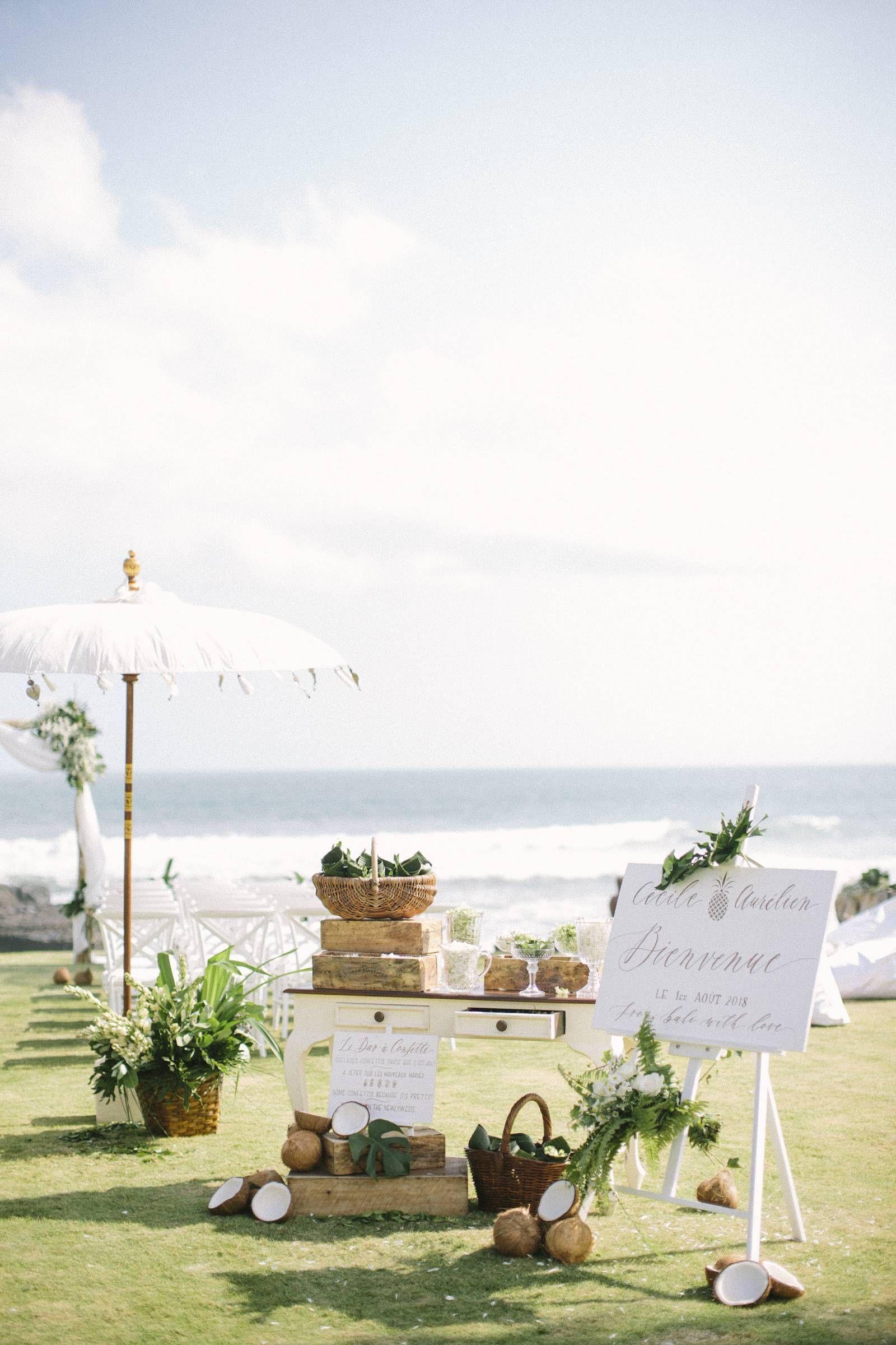 Elegant tropical wedding in a small village in Bali via