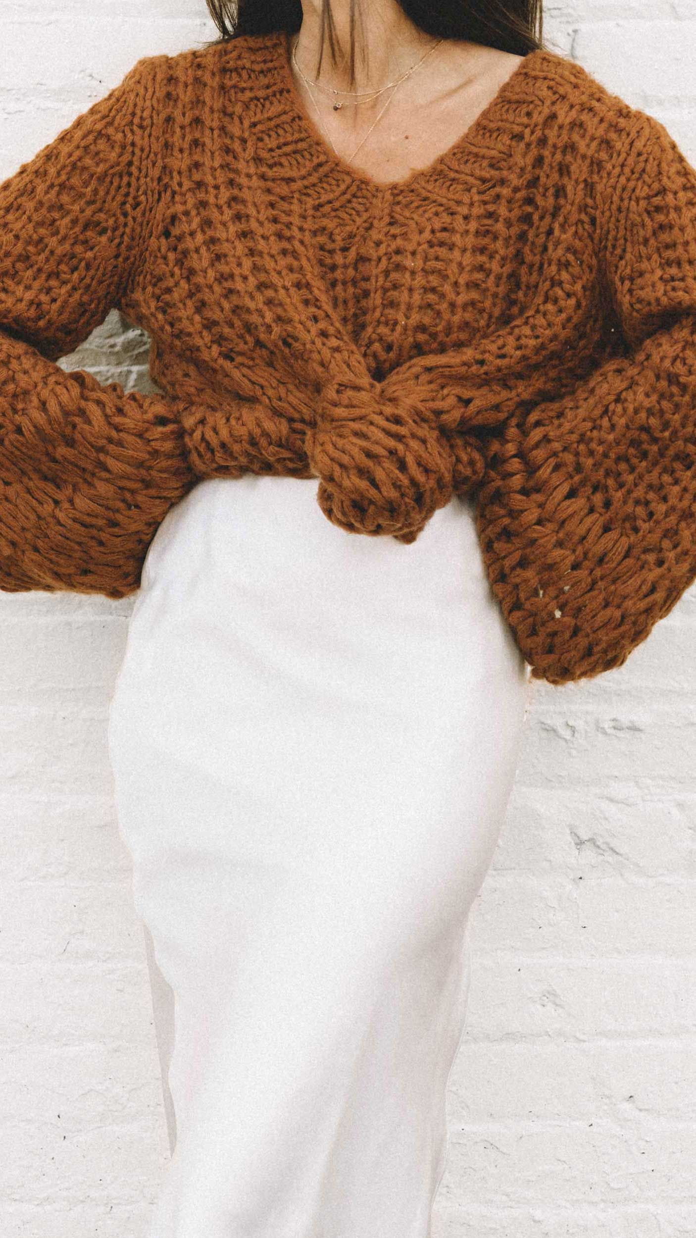 Easy Fall Outfit Ideas #oversizedknitsweaters