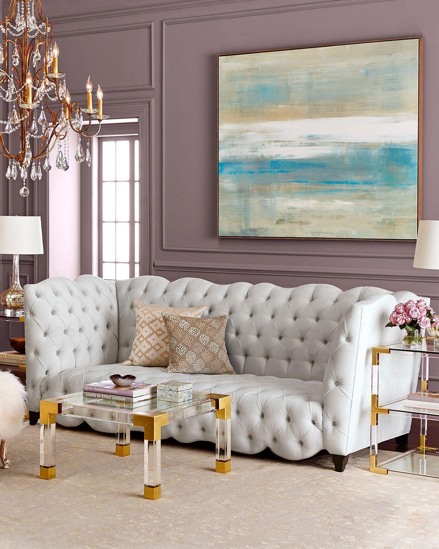 Haute House Arabella Tufted Sofa 92 Teal Living Room Decor Living Room Decor Room Decor