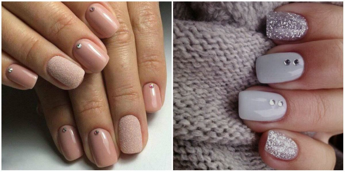Short nails 2019 Gentle colors on short nails Short Nails
